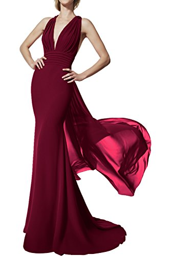 Promgirl House - Robe - Crayon - Femme rouge bordeaux