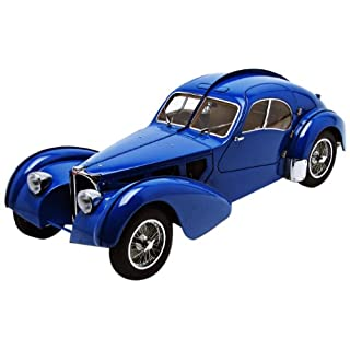 Bugatti 57S Atlantic 1938 blue wiht matal wire spoke wheels AutoArt 1:18