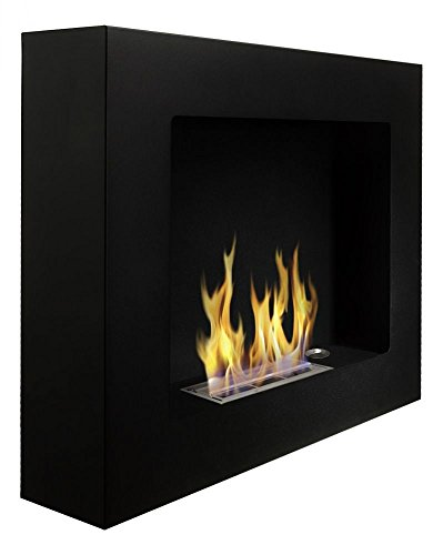 Chimenea de bioetanol de 580 mm x 490 mm y de color negro mate