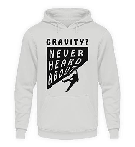 ROCK-WITCHES Never heared About Gravity. Estupenda Idea de Regalo para escaladores, escaladores y freeclimber - Sudadera con Capucha Unisex Sport Grau XL