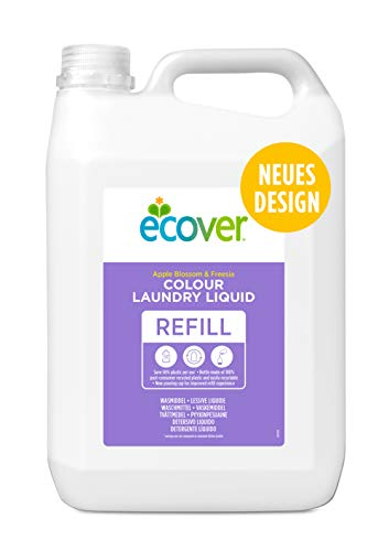 Ecover 4004579 Color Waschmittel Konzentrat Apfelblüte & Fresie, 100WL 5 l (1er Pack)