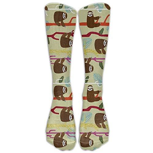 ruishandianqi Cute Sloth Unisex Funny Pattern Crew Socks Stockings Boy's ()