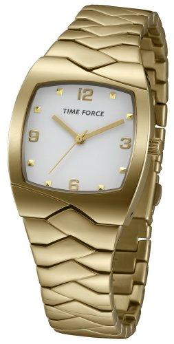 Time Force tf4084l09m–Reloj de pulsera de mujer, correa de acero inoxidable color dorado
