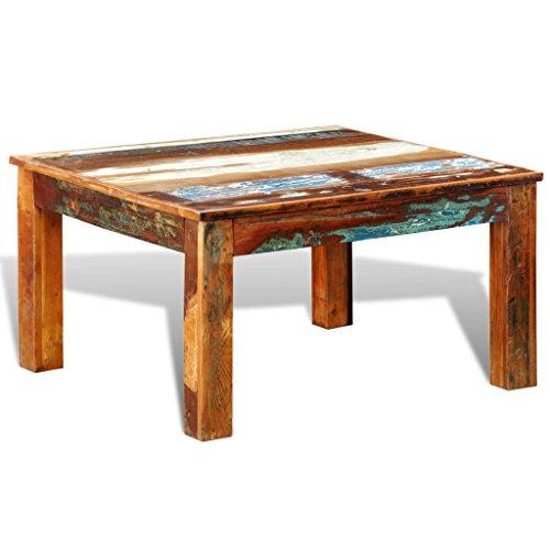 vidaXL Table basse ancienne vintage Carrée
