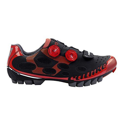 Catlike Whisper Chaussures Mixte Noir/Rouge