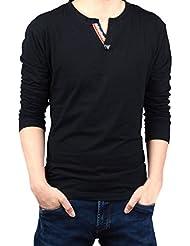 Ocasional con estilo Slim Fit Gillbro Hombres camiseta de manga larga camiseta Top
