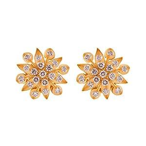 Joyalukkas 22k Yellow Gold and Diamond Stud Earrings