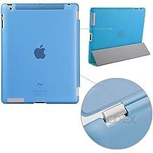 doupi Backcase Arrière Coque iPad ( 5. Generation 2017 Modell ) - convient doupi Smart Cover - Extra Fixation et Protection - Mat Semi Transparent, Bleu