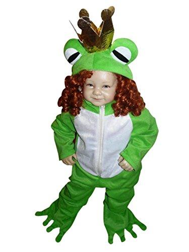 Froschkönig-Kostüm, Sy12 Gr. 86-92, für Klein-Kinder, Babies, Frosch-König Kostüme Fasching Karneval, Kleinkinder-Karnevalskostüme, Kinder-Faschingskostüme, Märchen-Kostüm