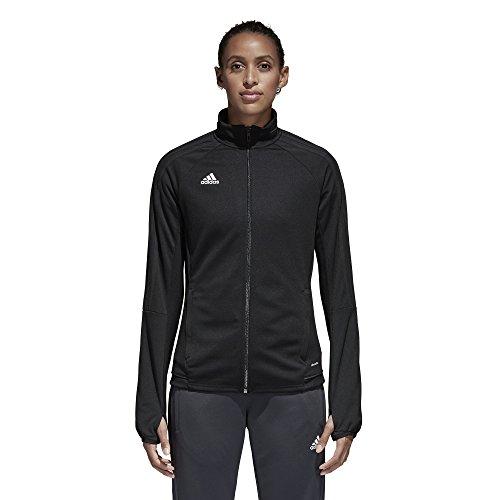 adidas Womens Tiro 17 Training Jacket Black/White M - Womens Tiro Training