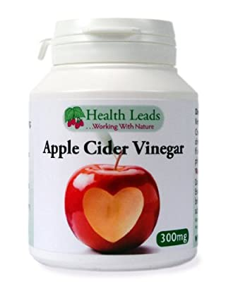 Apple Cider Vinegar 300mg x 90 capsules (100% Additive Free Supplements) from Health Leads UK