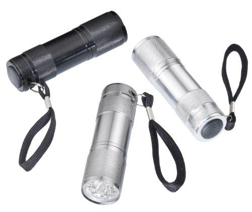 CON:P B29830 Taschenlampenset 9 LED 3-teilig 9 Led-taschenlampen