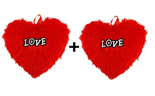 GMX red Heart Pillow with Love Combo 2 Pcs You Combo 2 Pcs for Gift to Husband, Wife, Boyfriend, Girlfriend