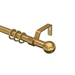 Flair Deco 12190304–1295Tringle avec embout boule 680008014, 16/19mm de diamètre, en métal, extensible, 120–230cm, laiton antique