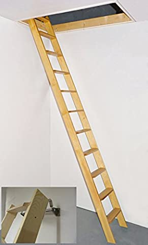 Dolle Straight Flight Timber One Piece Loft Ladder c/w Hook