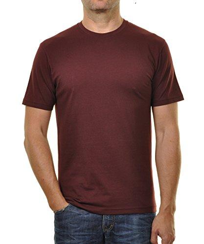 Ragman Herren T-Shirt Rundhals Singlepack Himbeere