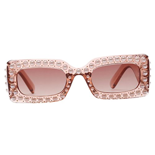 Unbekannt Sharplace Damen Sonnenbrille mit Strass Fashion Kastzenaugen Brille - Brown-Rahmen Brown-Linse