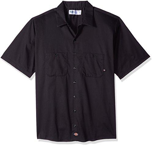 Dickies Occupational Workwear Herren Kurzarm Arbeitshemd Baumwolle LS307BK schwarz, XXXL, Schwarz, 1 -