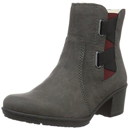 Rieker Damen Y8863 Chelsea Boots, Grau (Fumo/45), 37 EU