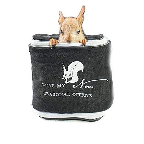 Pet Hamster Cooling Sommer Reisetaschen, Ratte Soft Sided Rattan Mat Carrier, Zucker Segelflugzeug Zylinder ausgehende Tasche für Igel Maus Eichhörnchen Chinchilla und andere Kleintiere -