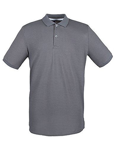 Modern Fit Cotton Microfine-Pique Polo Shirt Steel Grey