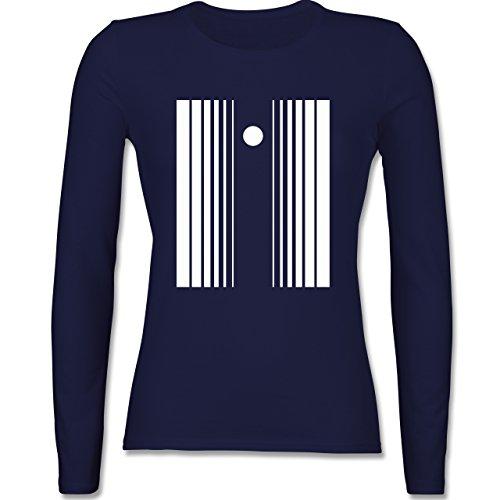 Karneval & Fasching - Doppler Effekt - XXL - Navy Blau - BCTW013 - tailliertes Longsleeve / langärmeliges T-Shirt für Damen (Damen Doppler Effekt Kostüm)
