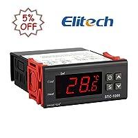 Caractéristiques:  Modèle: STC-1000 Contrôleur de température universel Switch Automatique entre le mode de la réfrigération et celui du chauffage Retour de la valeur différente Voltage: 220V AC ± 10% Dimension du Panneau Avant: 75(L) ×34.5(W) mm Dim...
