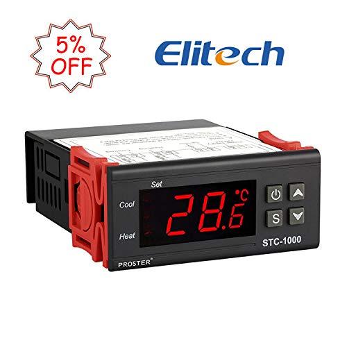 Proster Digitaler Temperaturregler Temperatur Regler Temperature Controller Thermostat Thermoelement Heizen oder Kühlen STC-1000 mit Temperaturfühler Sensor Sonde