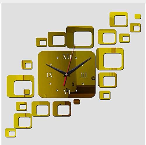 (Menddy Neue Acryl Uhr Dekoration Quarz Uhren Wohnzimmer Safe Modernes Design Große Digitaluhr Aufkleber Gold 40cmx70cm)