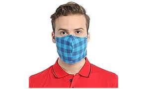 The August Co. Adult's Multi-colour Reusable Cotton Cloth Masks (4 pieces)