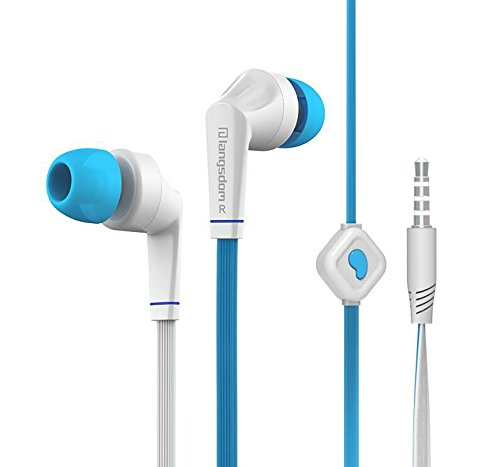 Premium (45 Days Seller Refund Guarantee) 3.5mm Connectors Stereo Earphone Headphone Earbud Super Bass Headset with Mic for Reliance ZTE D286 & All Other Mobile Brands (Blue)  available at amazon for Rs.325