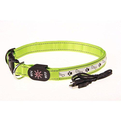 wuayi verstellbar Luminous LED Light Pet Dog Sicherheit Halsband Flashing Glow Pet Halsband (Kinder Kleinkind Bekleidung Angel)