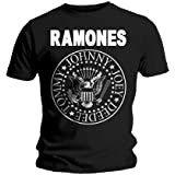T-Shirt Ramones Noir Hey Ho Let's Go S (T-Shirt taille Small)