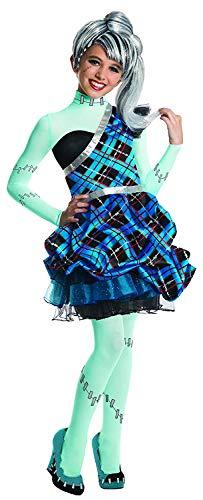 Monster High Frankie Stein Sweet Kinderkostüm Mädchenkostüm Karneval Fasching - Größe: M (Frankie Kostüm High Monster Kind Stein)