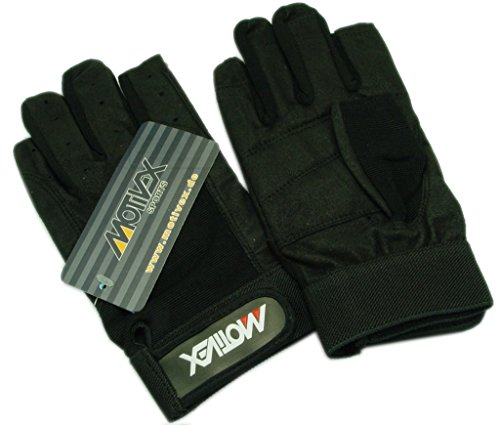 MOTIVEX Segelhandschuhe schwarz - 2 Finger geschnitten Grösse 3XL