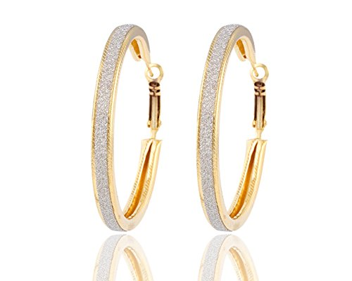 Glitz Multicolor Metal Hoop Earrings for Women/Girls