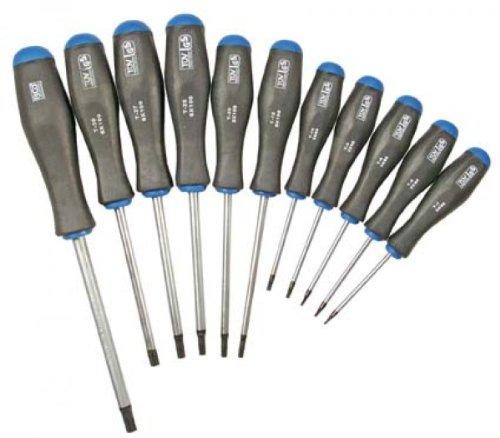 BGS 7845 T-Profil Schraubendrehersatz mit Stirnlochbohrung, 11-tlg.
