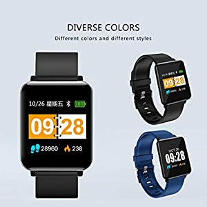 BZLine Fitness Tracker Smartwatch, Wasserdicht IP68 Smart Watch Uhr mit Pulsmesser Fitness Armband Sport Uhr Fitness Uhr mit Schrittzähler,Schlaf-Monitor für Android und iOS