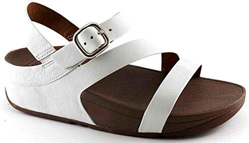 FITFLOP SKINNY Z CROSS SANDALS E50194 white bianco scarpe donna sandali Bianco