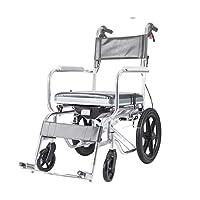 Wheelchair Folding lightweight wheelchair Multifunctional elderly wheelchair Waterproof bathing toilet trolley