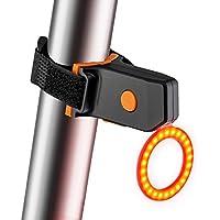 CRAZYMAN - Luz Trasera Recargable USB para Bicicleta, 5 Modos de luz, luz Trasera