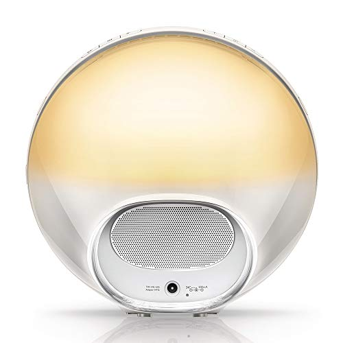 Philips HF3520/01 Wake-Up Light (Sonnenaufgangfunktion, digitales FM Radio, Tageslichtwecker) weiß - 3