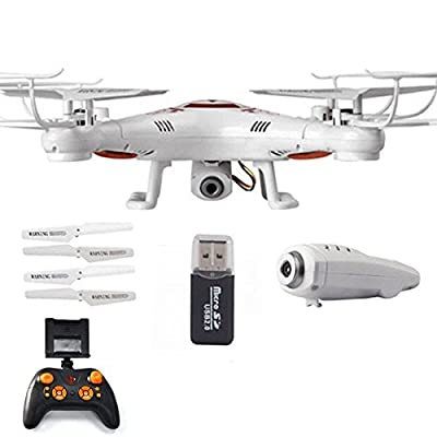 R/C DRONE WITH LIVE VIEW HD CAMERA 6-Axis Quadcopter GYRO Explore Helicopter- LIVE STREAM ON YOUR PHONE from s&s