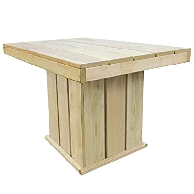 Lingjiushopping Set-Esszimmer Garten ¨ ªn Holz Kiefer imprägniert 110x 75x 74cm Maße Tisch: 110x 75x 74cm (Breite x Tiefe x Höhe) von Lingjiushopping auf Du und dein Garten
