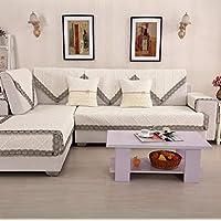 FELICIKK Cojín para sofá Acolchado Algodón 4 Seasons Funda de Toalla para sofá común Aplicar a