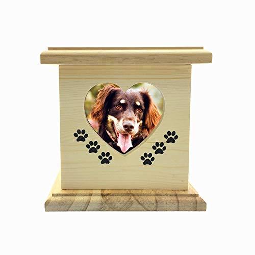 DCCER Ataúdes para Mascotas, urnas de Gatos y Perros de Madera, monumentos de cremación de Animales y lápidas Se Pueden recolectar/incrustar Cilindros de Sellos Decorativos, Weng