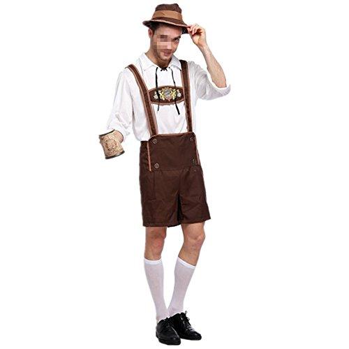 Disfraz de Bavaro Hombre Traje Cosplay de Oktoberfest Vestuario Carnaval Talla XXL