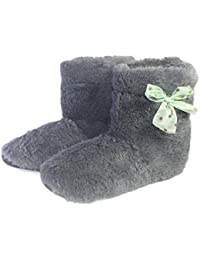 Zapatillas de casa de Primavera para Mujer Calientes Zapatos de Felpa para Interiores Cómodos Flock Solid