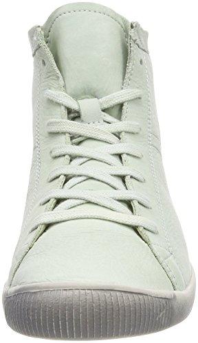 Softinos Damen Isleen Washed Hohe Sneaker Grün (Pastel Green)