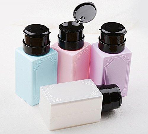 takestop Set 2Stück Dispenser klein Flasche Salon Retro 'Rechteck Nail Art Dispenser a Pumpe...